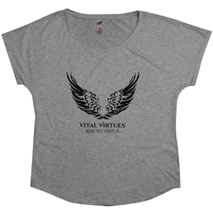 Vital Virtues - 6760 Next Level Apparel Women's Tri-Blend Dolman Premium Heather