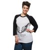 Vital Virtues - 3200 Bella+Canvas Unisex 3/4 Sleeve Baseball Tee 3/4 View