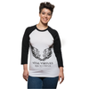 Vital Virtues - 3200 Bella+Canvas Unisex 3/4 Sleeve Baseball Tee Front View