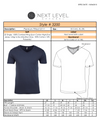 Vital Virtues - 3200 Next Level Apparel Men's Cotton V-Neck T-Shirt Size Chart