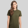 Respect Women - 6210 Next Level Apparel Premium Unisex Fitted CVC Crew Military Green Pose 1