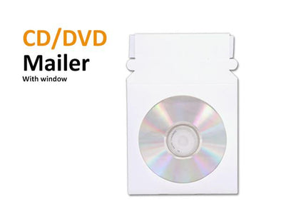 CDs or DVDs in Cardboard Mailers