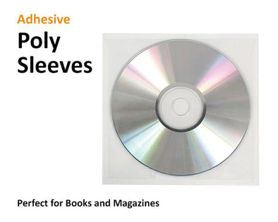 CDs or DVDs in Poly Sleeves