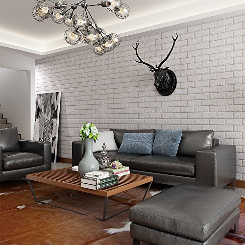 White Brick 3d Wall Panels Peel And Stick Wall Decoration 10 Pack