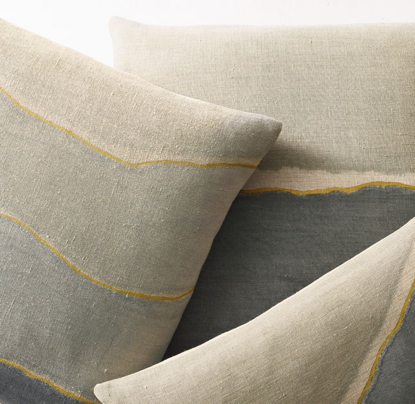 Watercolor Pillow Collection at Restoration Hardware