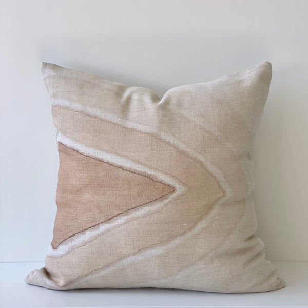 Amber Arrowhead Gradient Hemp Pillow