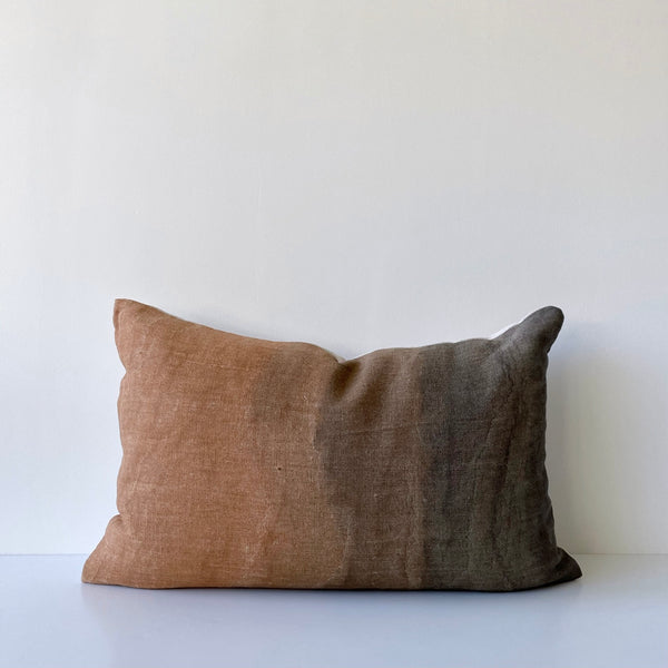 Amber & Charcoal Gradient Hemp Lumbar Pillow