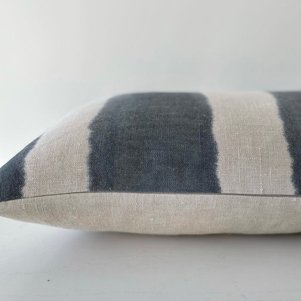 Surf Wide Striped Hemp Pillow