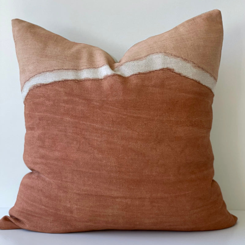 Sienna Two-Toned Ridge Hemp Pillow