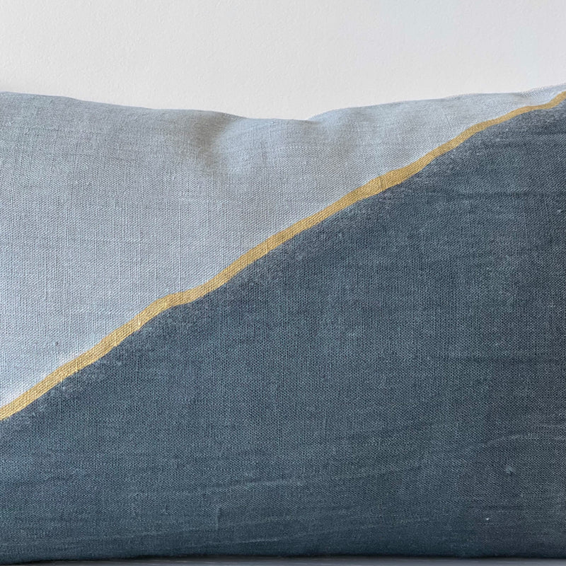 Surf & Gold Fault Lumbar Pillow