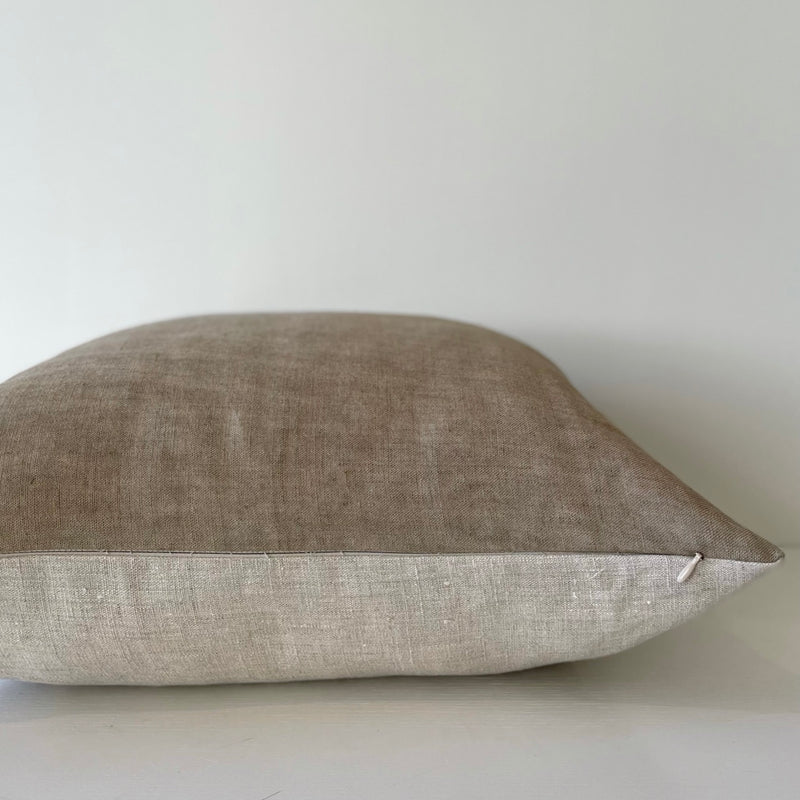 Mocha & Olive Ridge Reveal Pillow