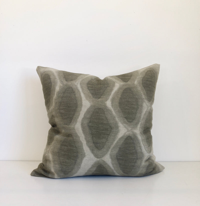 Olive Argyle Pillow