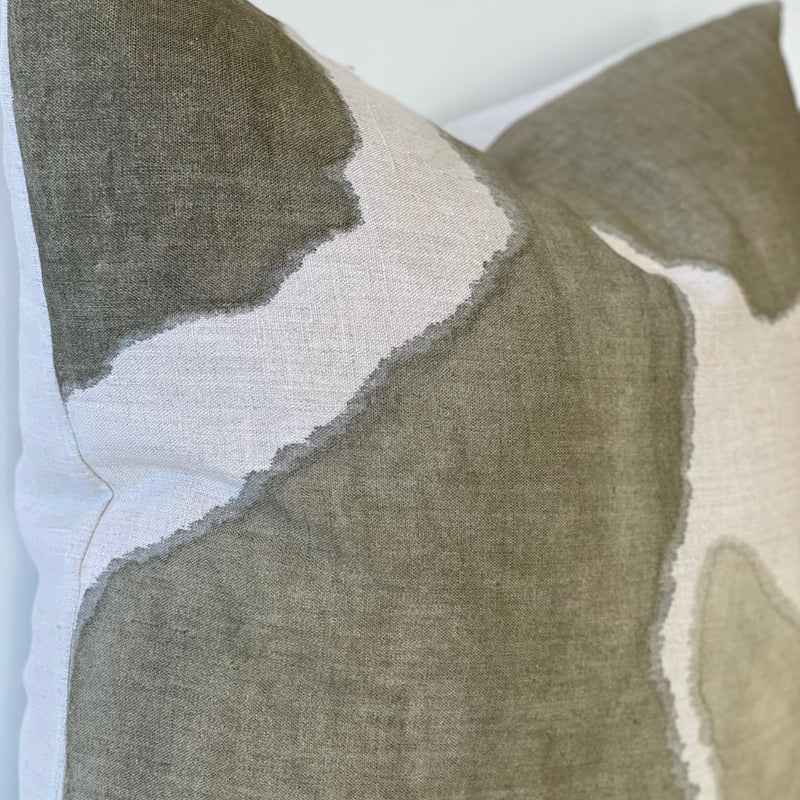 Olive Fragment Hemp Pillow