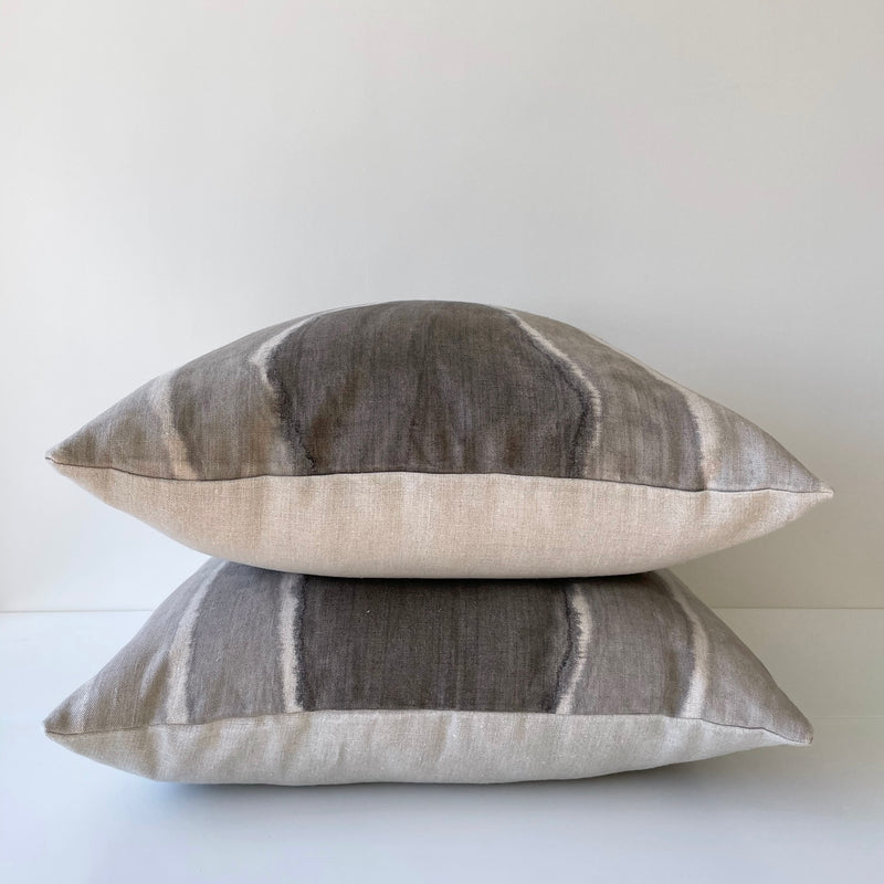 Charcoal Arrowhead Gradient Hemp Pillow