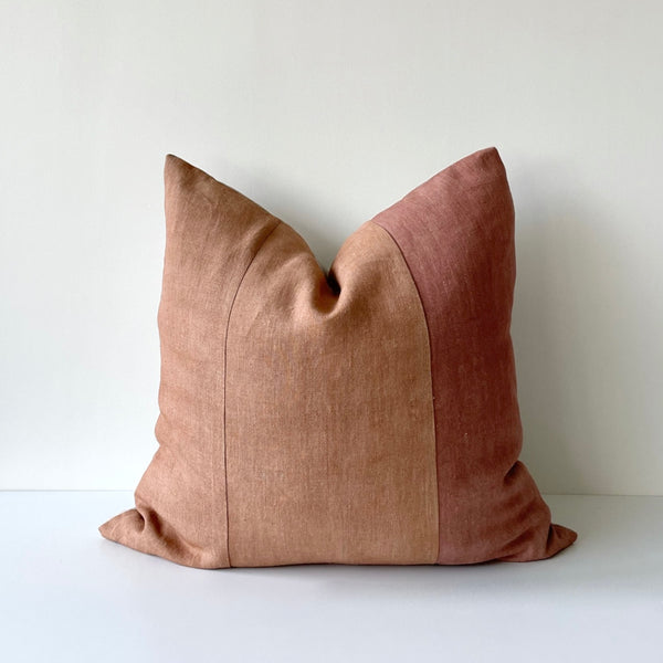 Amber & Rose Paneled Remnants Hemp Pillow