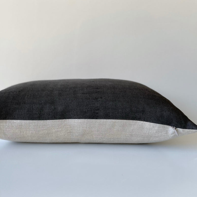Charcoal Mocha Amber Fragment Lumbar Pillow