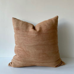 Amber Paneled Remnants Hemp Pillow