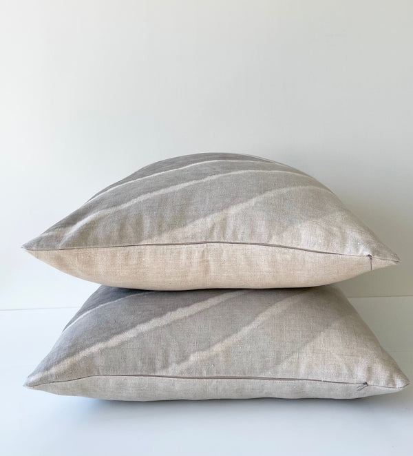 Cloud Grey Arrowhead Gradient Hemp Pillow
