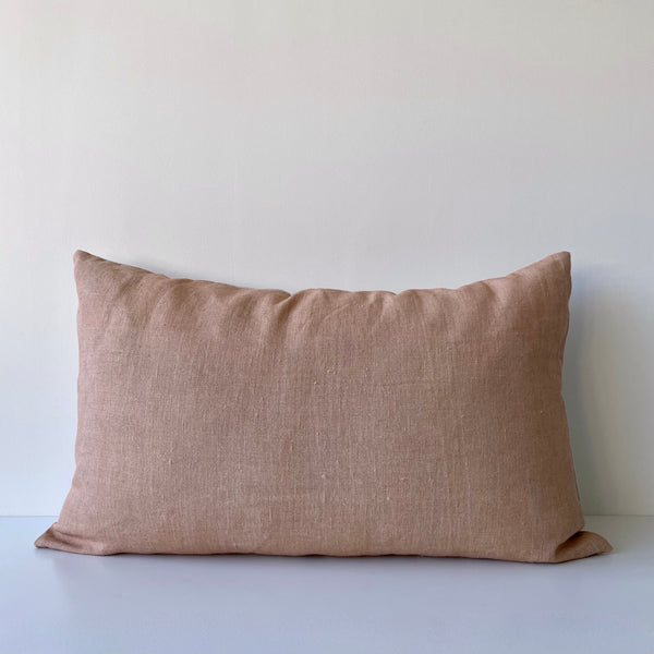 Sienna Light Solid Wash Hemp Lumbar Pillow