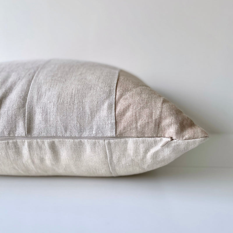 Amber & Soft Sienna Remnants Hemp Pillow no. 4