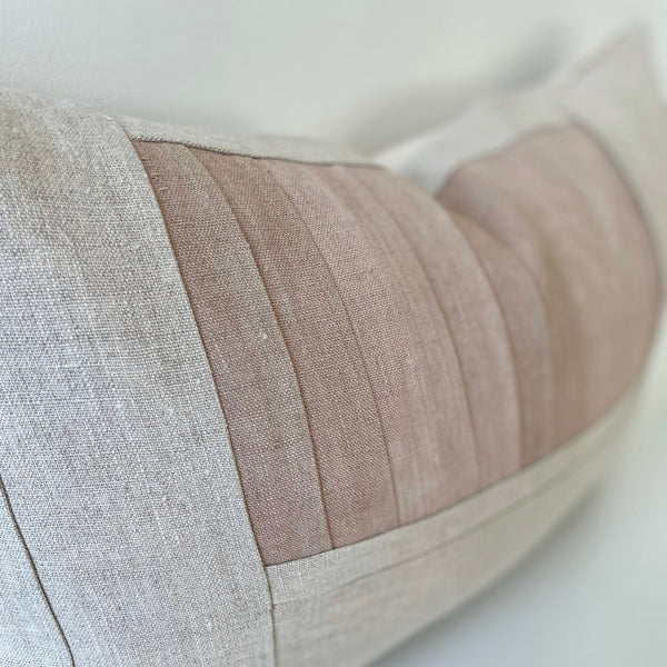 Rose Remnants Hemp Lumbar Pillow no. 1