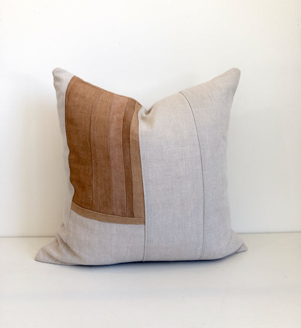 Amber Remnants Hemp Pillow no. 1