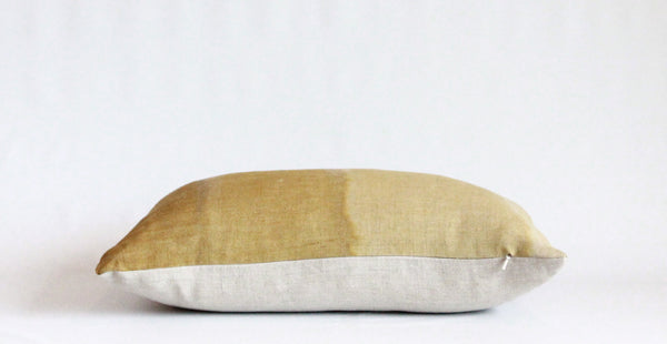 Ochre Gradient Hemp Pillow