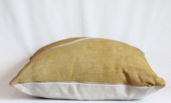 Ochre Fault Hemp Pillow
