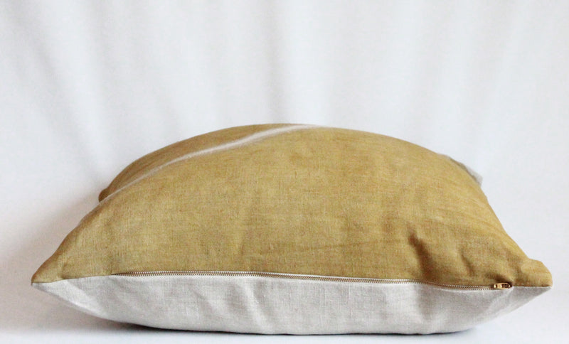 Ochre Fault Pillow Cover