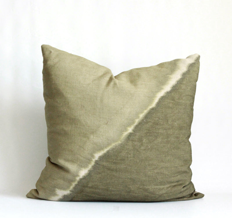 Olive Fault Pillow Cover