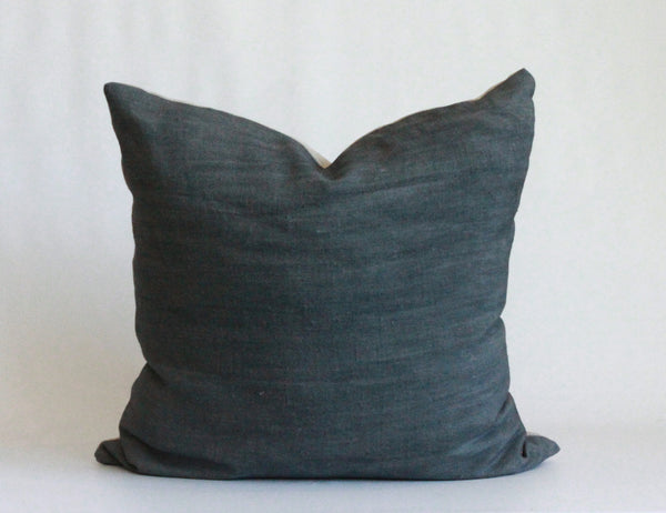 Surf Solid Wash Hemp Pillow