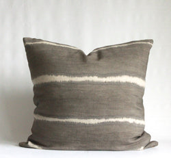 Charcoal Wide Striped Hemp Pillow