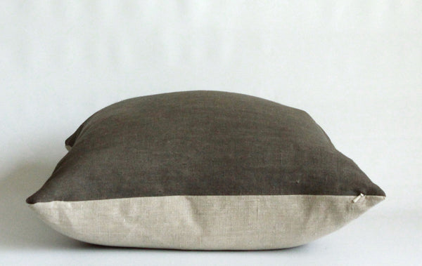 Charcoal Solid Wash Hemp Pillow