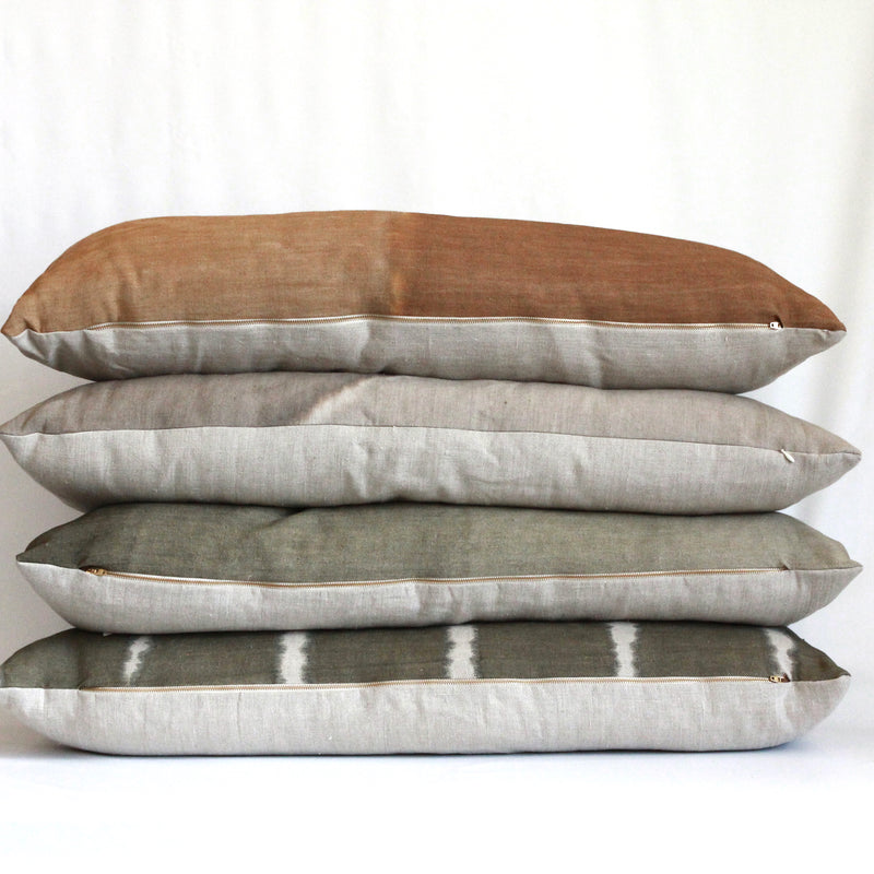 Olive Gradient Hemp Pillow