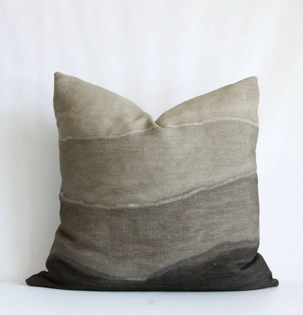 Charcoal Gradient Hemp Pillow