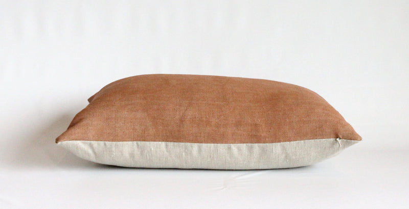 Sienna Solid Wash Hemp Lumbar Pillow