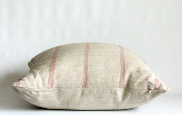 Rose Thin Striped Pillow Cover