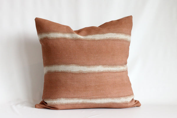 Sienna Wide Striped Hemp Pillow