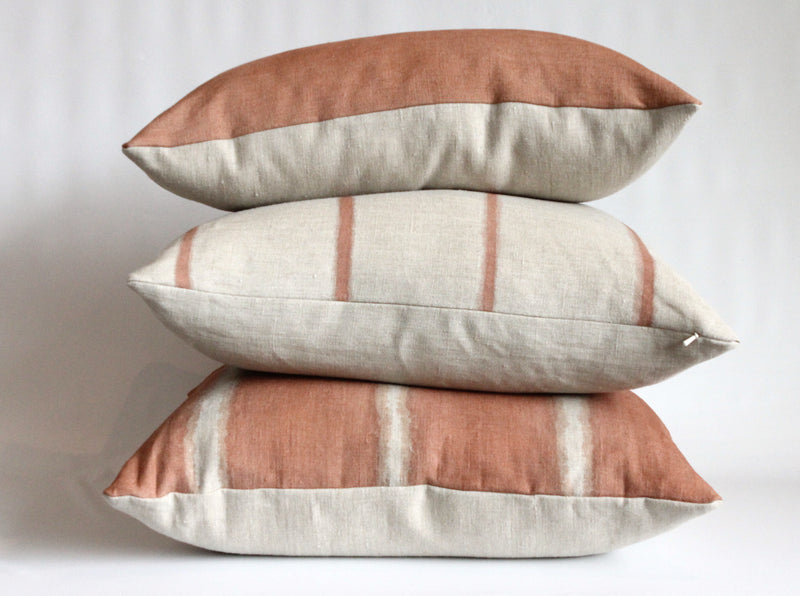 Sienna Thin Striped Hemp Pillow