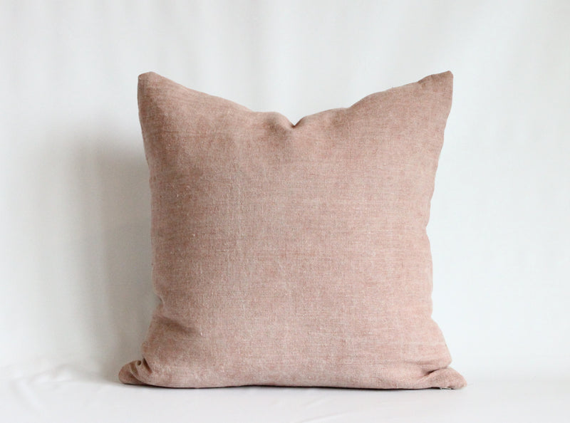 Rose Solid Wash Pillow Cover