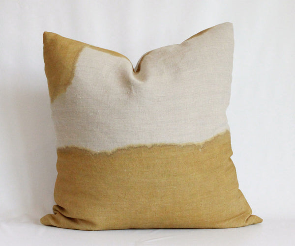 Ochre Hemp Pillow No 1.