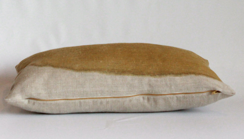 Ochre Wash Natural Edge Reveal Pillow