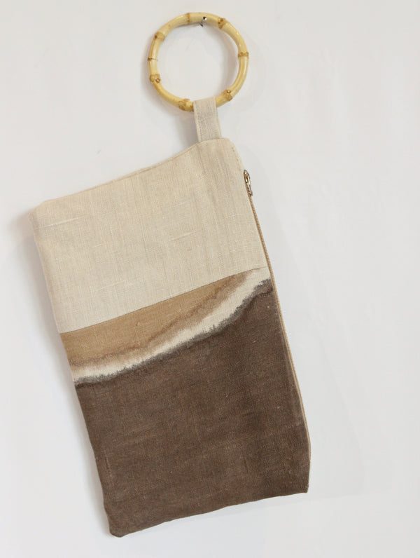 Hand Painted Hemp Wristlet