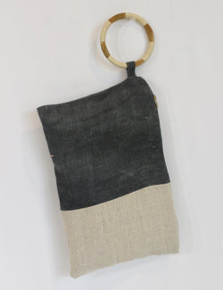 Hand Painted Colorblock Surf Hemp Wristlet