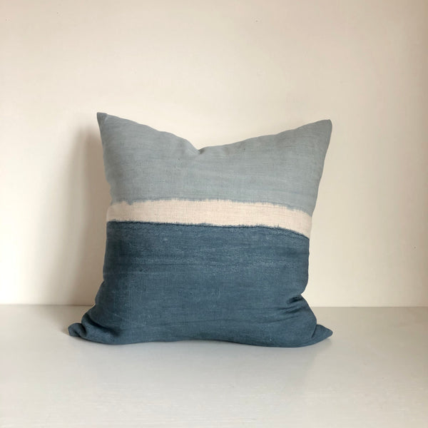 Ocean Blue Colorblock Pillow 22x22