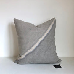 Charcoal Fault with Metallic Silver Pillow Cover