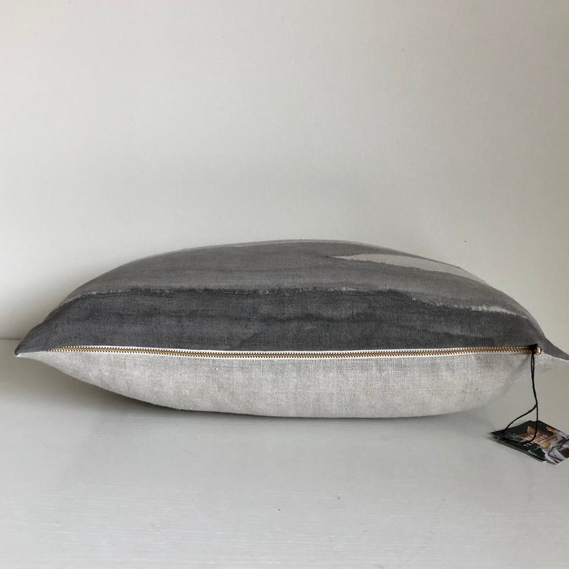 Charcoal Furrow 14x22 Pillow Cover