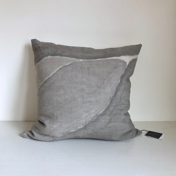 "Cloud Grey Block Ridge 24x24"" Pillow Cover"
