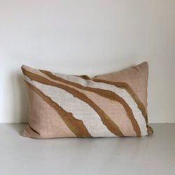 Sienna & Amber Double Fault with Metallic Gold 14x22 Pillow Cover