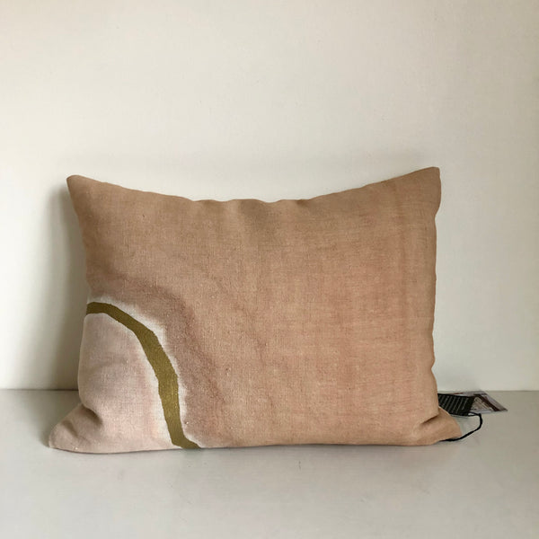 "Sienna with Metallic Gold 16x20"" Pillow Cover"